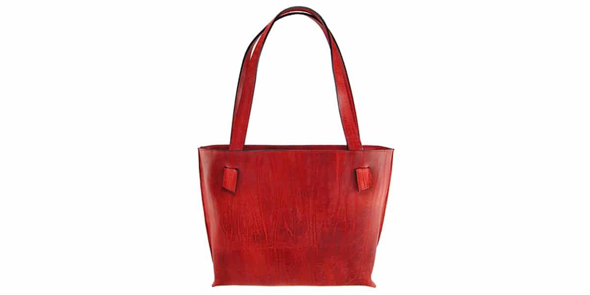 Deero Lederatelier, rote Ledertasche