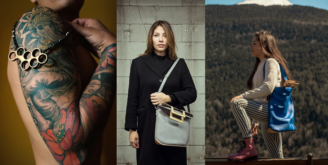 industrierelikt, edle Taschen und Accessoires aus Textilien