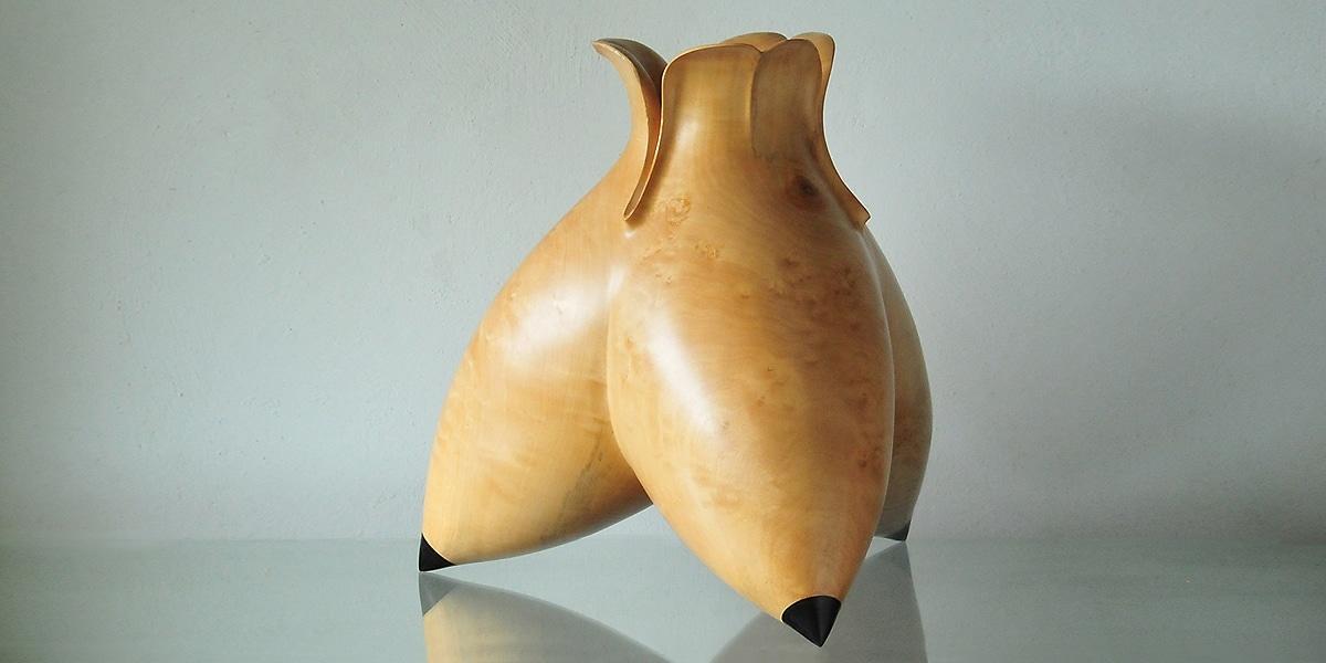 Peter Hromek, gedrechseltes skulpturales Gefäß